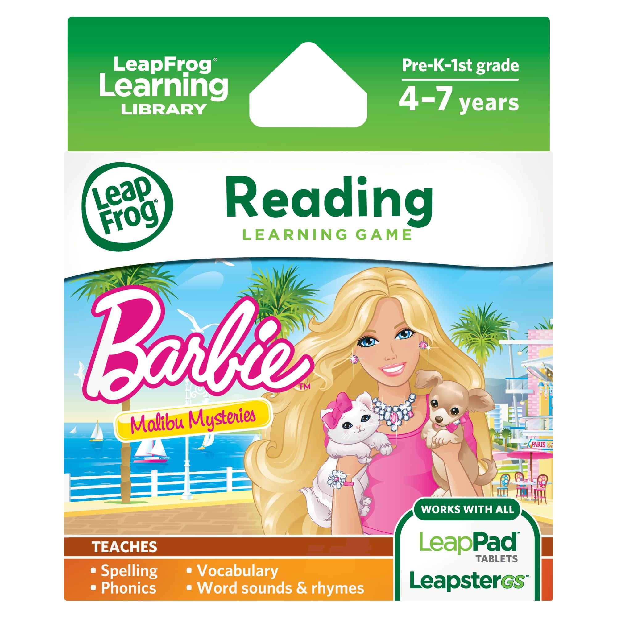 LeapFrog Learning Game: Barbie Malibu Mysteries (for LeapPad Tablets and LeapsterGS) by LeapFrog (Image #1)