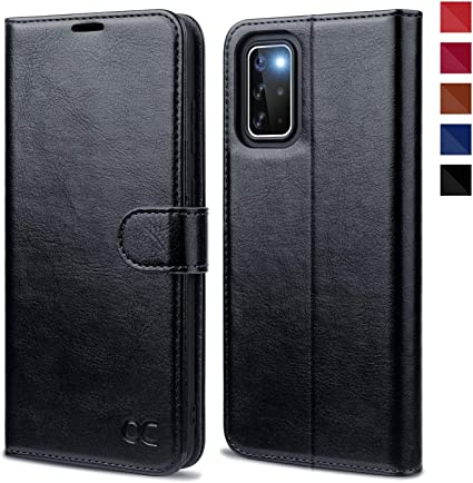 Black Leather Cover Wallet for Samsung Galaxy S20 Plus Simple Flip Case Fit for Samsung Galaxy S20 Plus