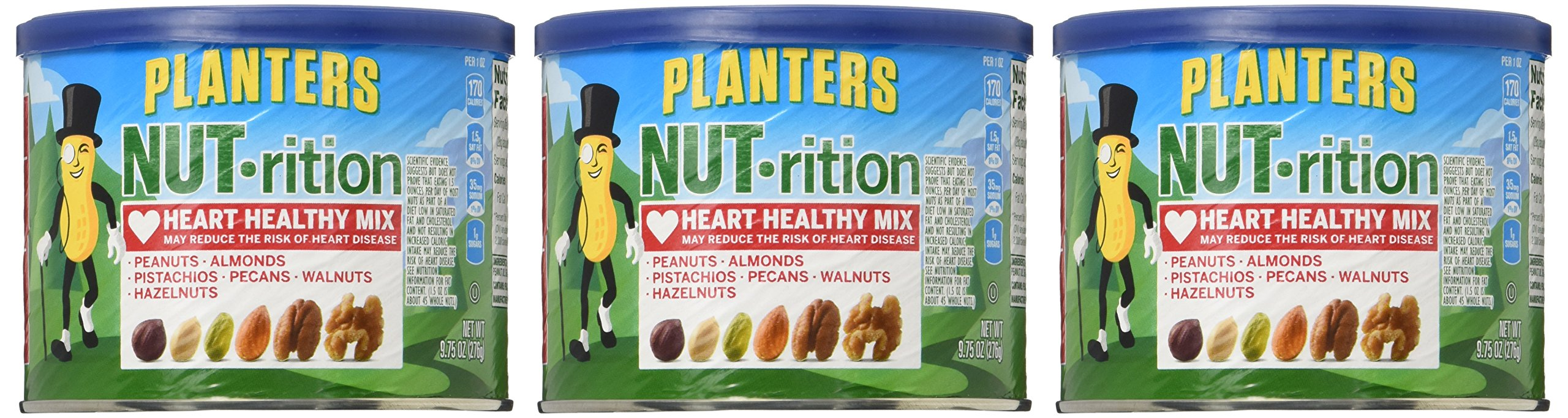 NUTrition Heart Healthy Snack Nut Mix (9.75oz, Pack of 3) by Planters (Image #2)