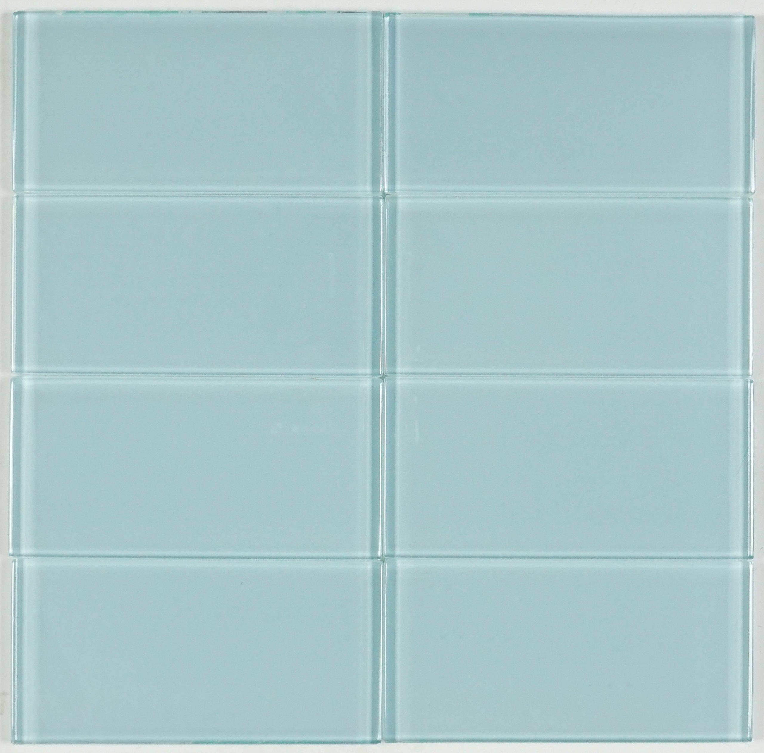 THG-17 Ocean green subway tile 3x6 - Kitchen and Bath Backsplash Wall Tile(8pcs)