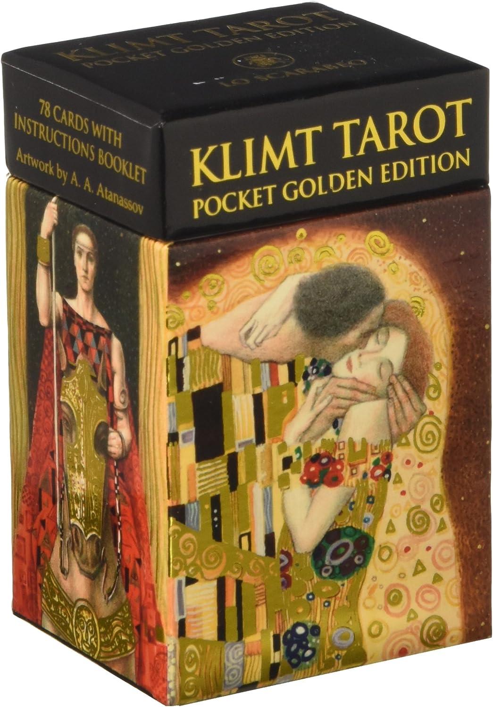 SCARABEO-JEUX Mini Tarot de Klimt - Pocket Golden édition
