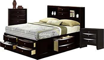 Madison 3-Piece Bed with Storage Drawers Queen Bedroom Set