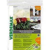 Verdemax 5805, 4 x 5 m – Protectores de – Red de Tejido no Tejido Blanco