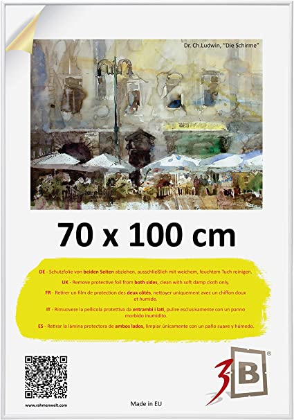 3 B Poster 70x100 Cm B1 Ca 275x395 White