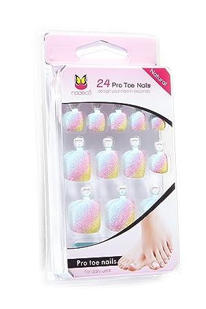 Toe Nail Tips Künstliche Fußnägel Zum Aufkleben In Rainbow