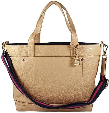 Image Unavailable. Image not available for. Color  Tommy Hilfiger Genuine  Leather Convertible Tote Shoulder Bag Handbag cc5514884c725