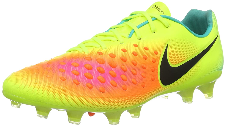 Jaune (Volt   noir-total Orange-rose Blast) Nike Magista Opus II FG, Chaussures de Football Homme 40 EU