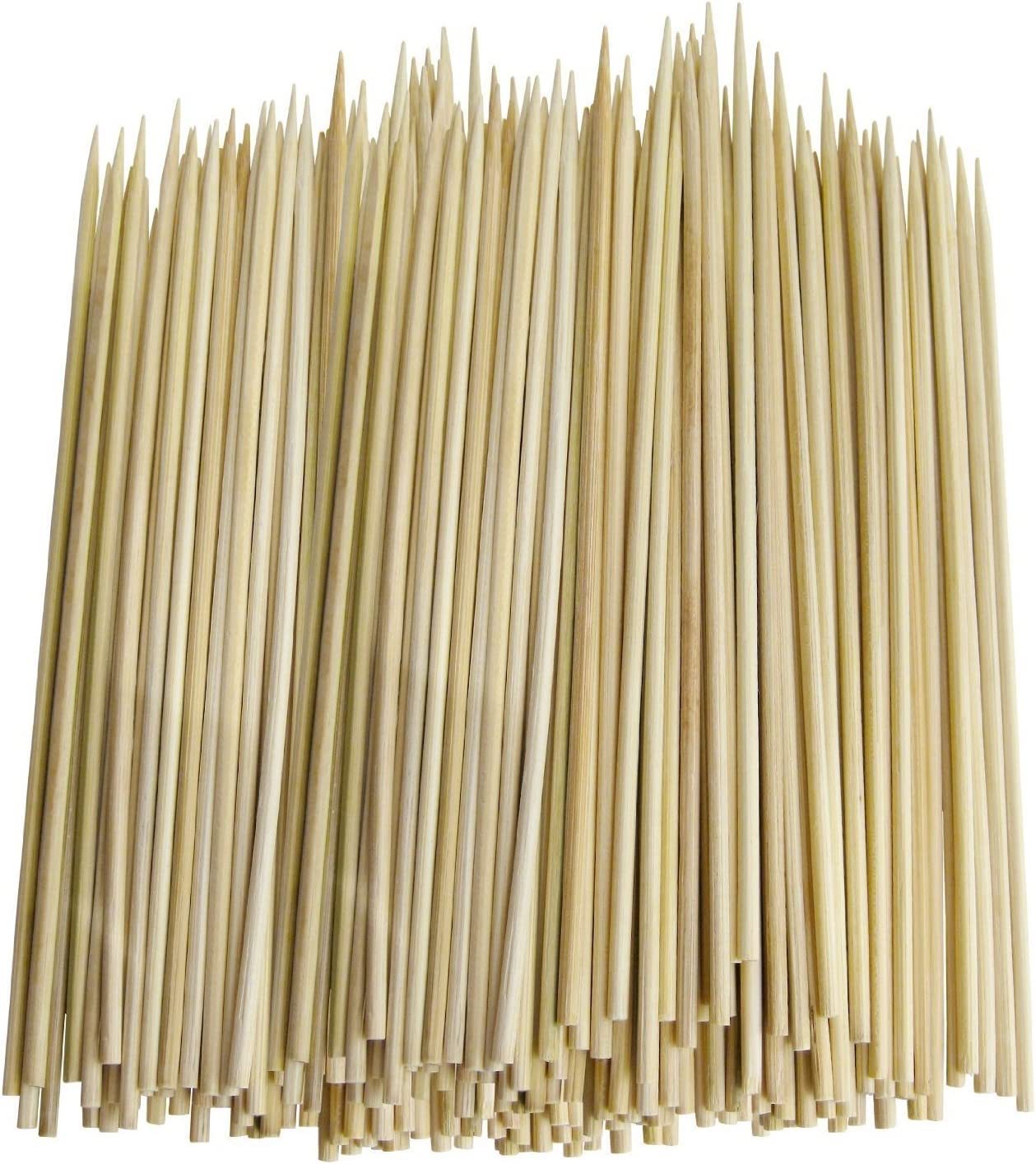 Pack of 300 Thin Bamboo Skewers for BBQ, Skewer, Shish Kabobs, Appetizers (12 Inch)