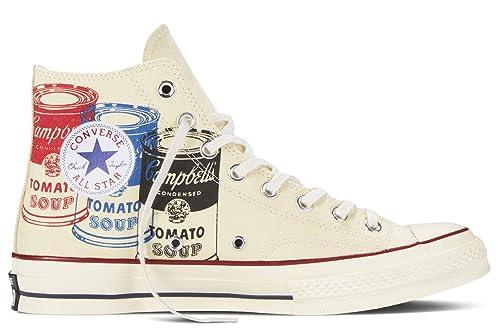 Converse Zapatillas Abotinadas All Star Prem Hi 197S Warhol Blanco EU 46 (US 11.5): Amazon.es: Zapatos y complementos