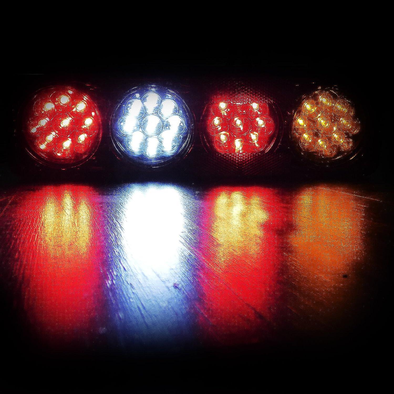 f/ür Anh/änger 12 V 6 Funktionen 2 x LED-R/ücklichter mit 36 LEDs LKW und Trucks Wohnwagen