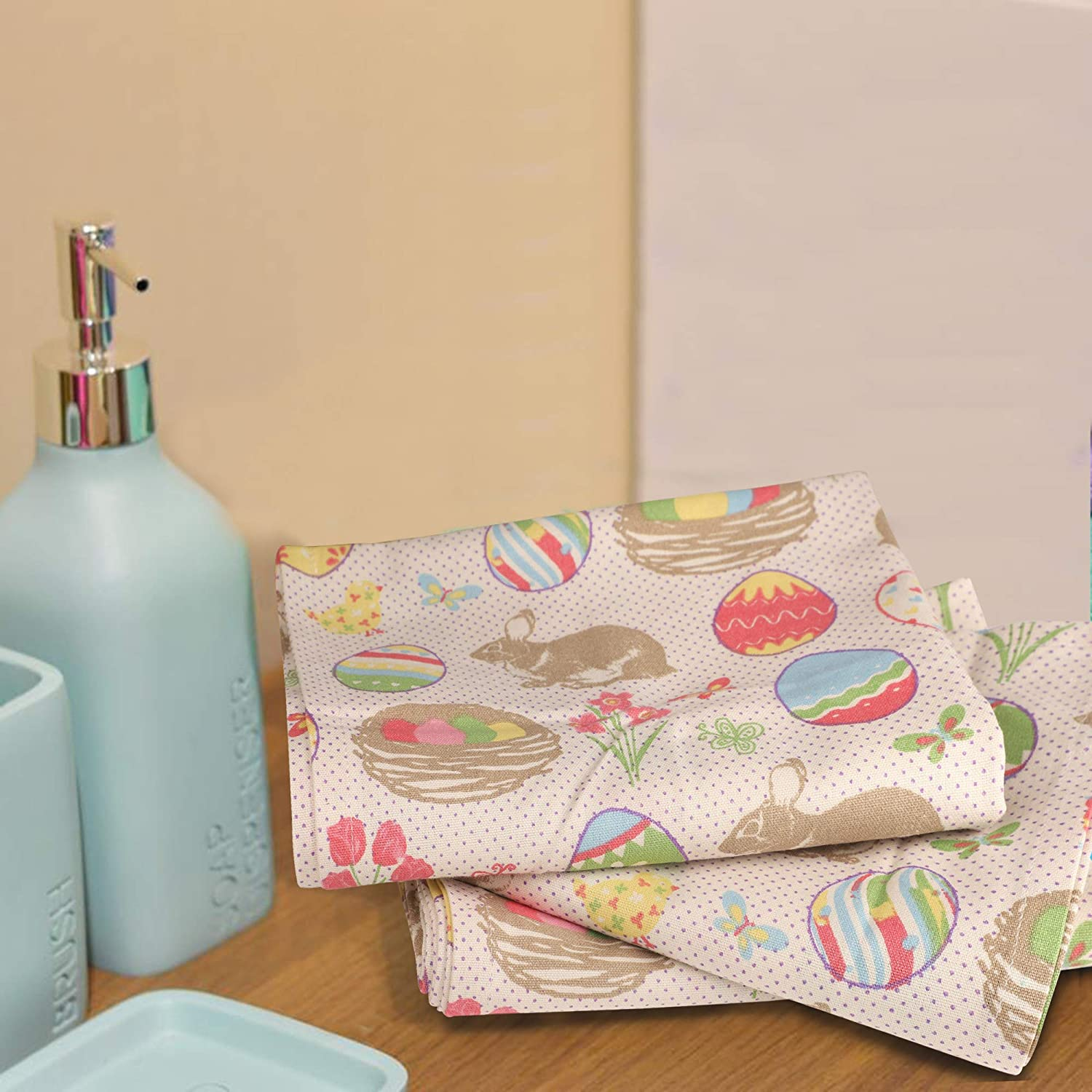 Highly Absorbent Bar Towels /& Tea Towels - Urban Villa Kitchen Towels,Christmas Tree Print,Red//Green Size: 20X30 Inch Set of 6 Premium Quality,100/% Cotton Dish Towels,Mitered Corners,Ultra Soft
