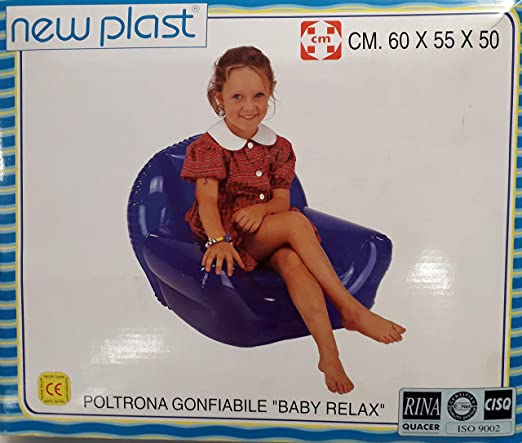 New Plast sillón para niños Hinchable Modelo Baby Relax ...
