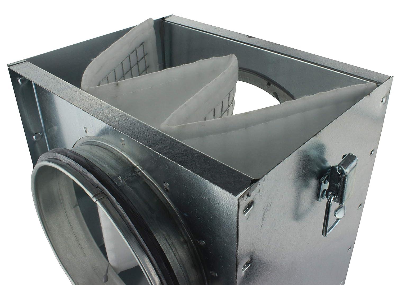 filtro de salida de aire conducto en espiral Caja de filtro de aire MKK 18496 filtro de polvo filtro de instalaci/ón entrada de aire