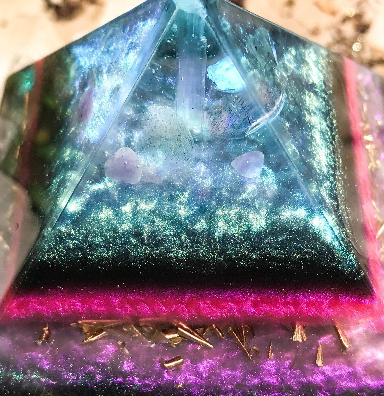Amazon orgonite crystal pyramid violet flame alchemy handmade buycottarizona Gallery