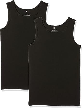 NAME IT Nkmtank Top Solid Noos Camiseta sin Mangas (Pack de 2) para Niños