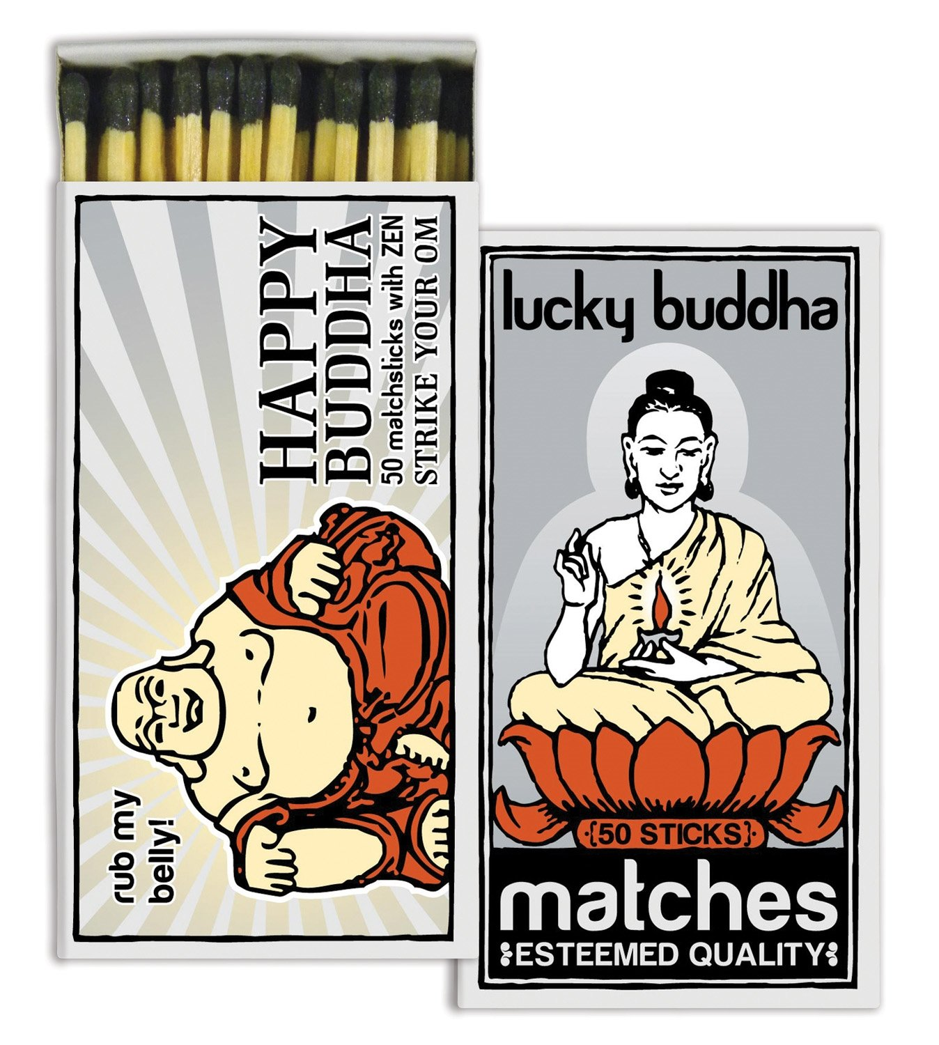 HomArt Matches - Buddha Brand (Set of 12)