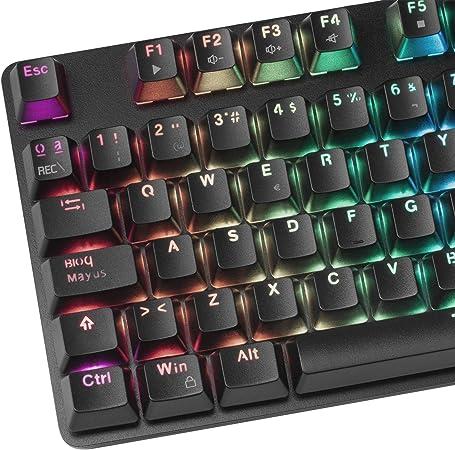 Mars Gaming MK5RPT, Teclado Mecánico RGB + Resposamuñecas, Switch Rojo, Portugués