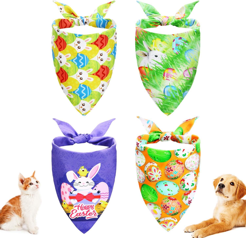 Small Easter bunny pet bandana with Peter Pan collar /& bow