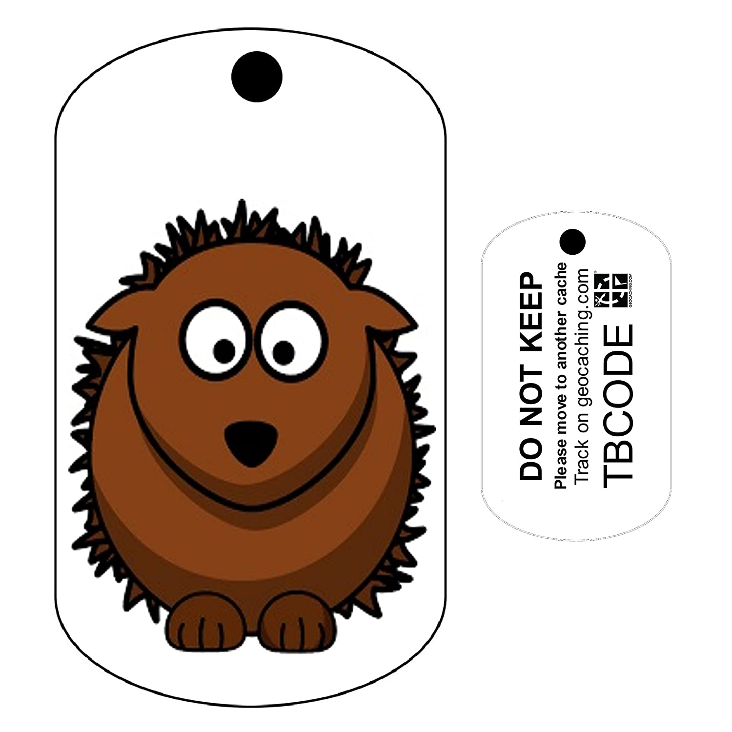 Herman the Hedgehog (Travel Bug) For Geocaching - Trackable Tag - Unactivated