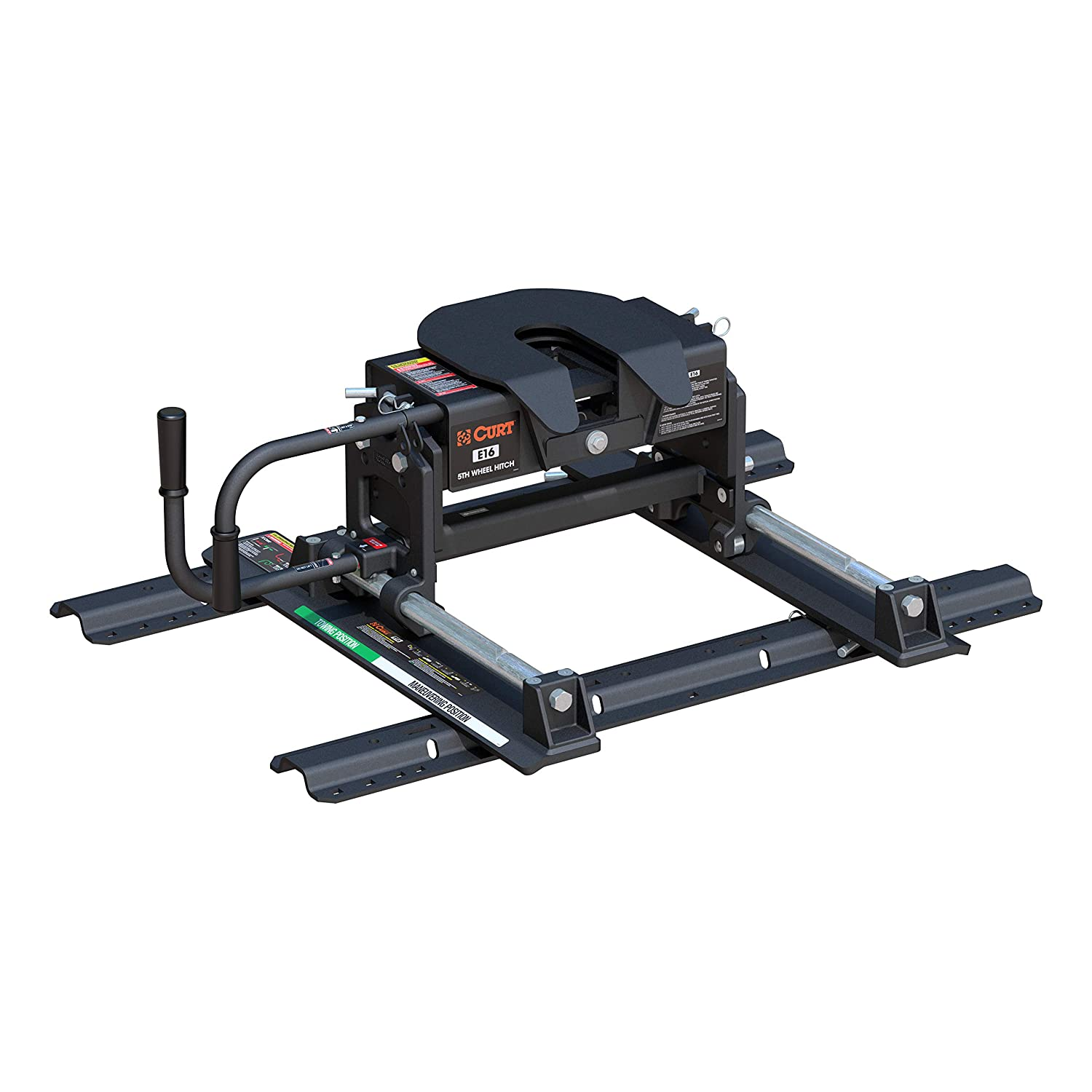 CURT 16616 E5 Fifth Wheel Head R5 Roller and Mounting Rails