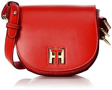 54295b510db Tommy Hilfiger Women s AW0AW03698 Cross-Body Bag Red Size  6x15x17 cm (B x