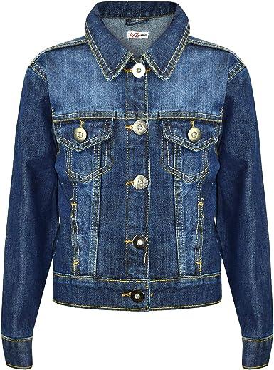 Amazon Com Kids Girls Jackets Designer Denim Style Fashion Blue Jeans Jacket Coats 3 13 Yrs Clothing
