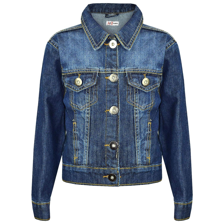2bca4d5fd Kids Girls Jackets Designer Denim Style Fashion Blue Jeans Jacket Coats  3-13 Yr: Amazon.ca: Clothing & Accessories