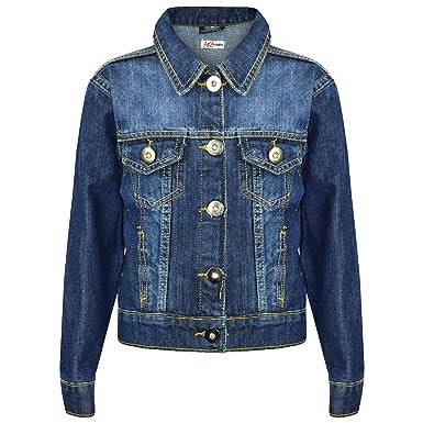 0c4a0416ebcb Amazon.com  Kids Girls Jackets Designer Denim Style Fashion Blue ...