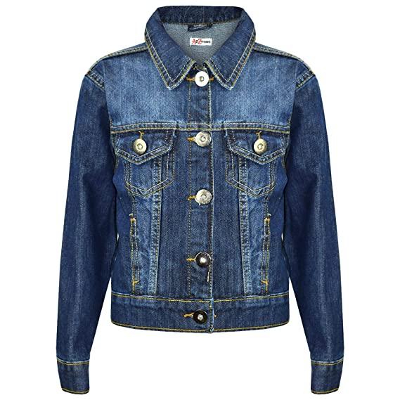 b1d35ee3a Kids Girls Jackets Designer Denim Style Fashion Blue Jeans Jacket ...