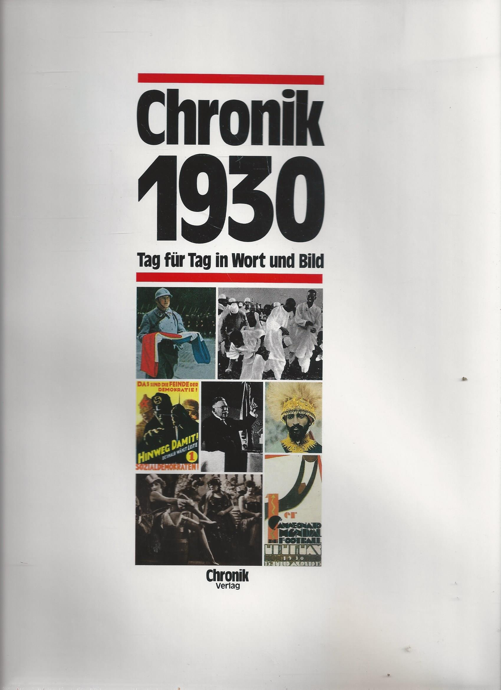 Chronik 1930 - Jahrgangsbuch-Chronik 1930 - Jahrgangsbuch 1930