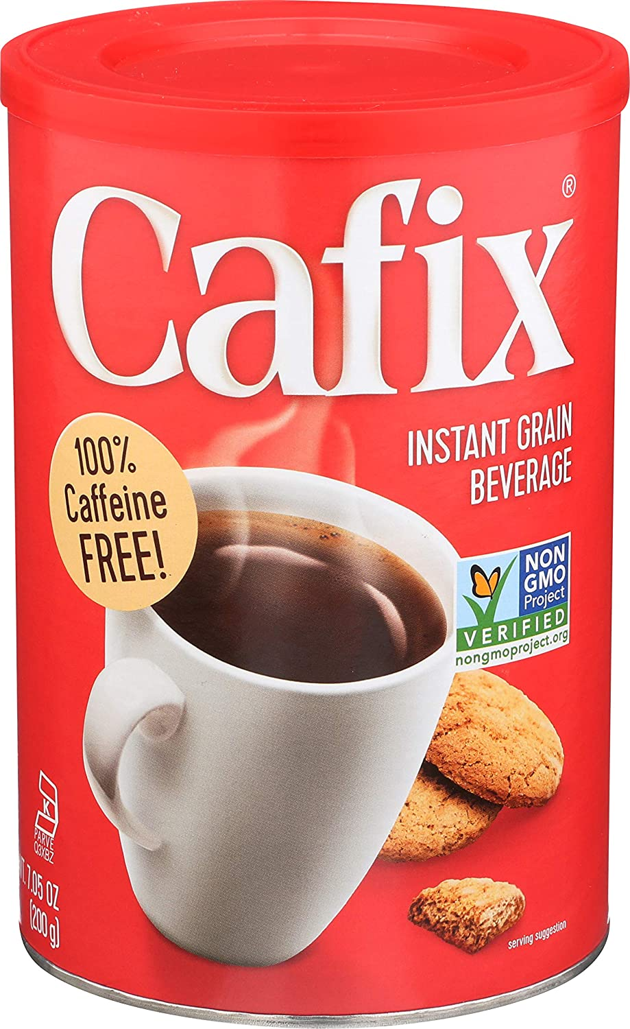 Cafix Caffeine-Free All-Natural Instant Coffee Substitute, 7.05-oz. Packages (Pack of 6)