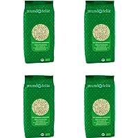 Mundo Feliz - Semillas de girasol ecológicas, 500 g (paquete de 4)