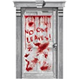 Halloween Surgery Horror Ghostly No One Leaves Dripping Blood Door Decoration