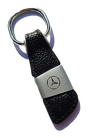 Llavero de Cuero Mercedes con Logotipo Grabado en la Parte ...