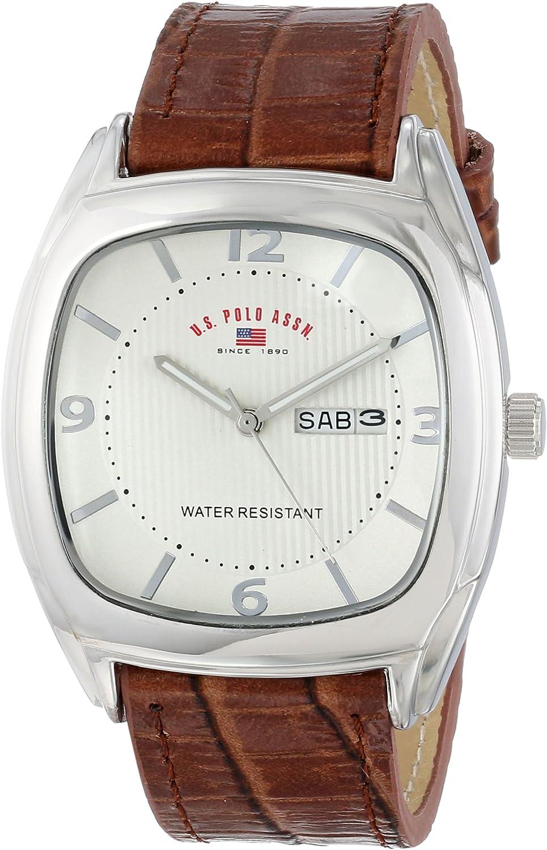 U.S. POLO ASSN. US5114 - Reloj para Hombres, Correa de Cuero ...