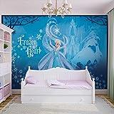 Papier Peint Photo Mural 832P4 - Collection Disney La Reine des Neiges - XL - 254cm x 184cm - 2 Part(s) - Imprimé sur 115g/m2 papier mural