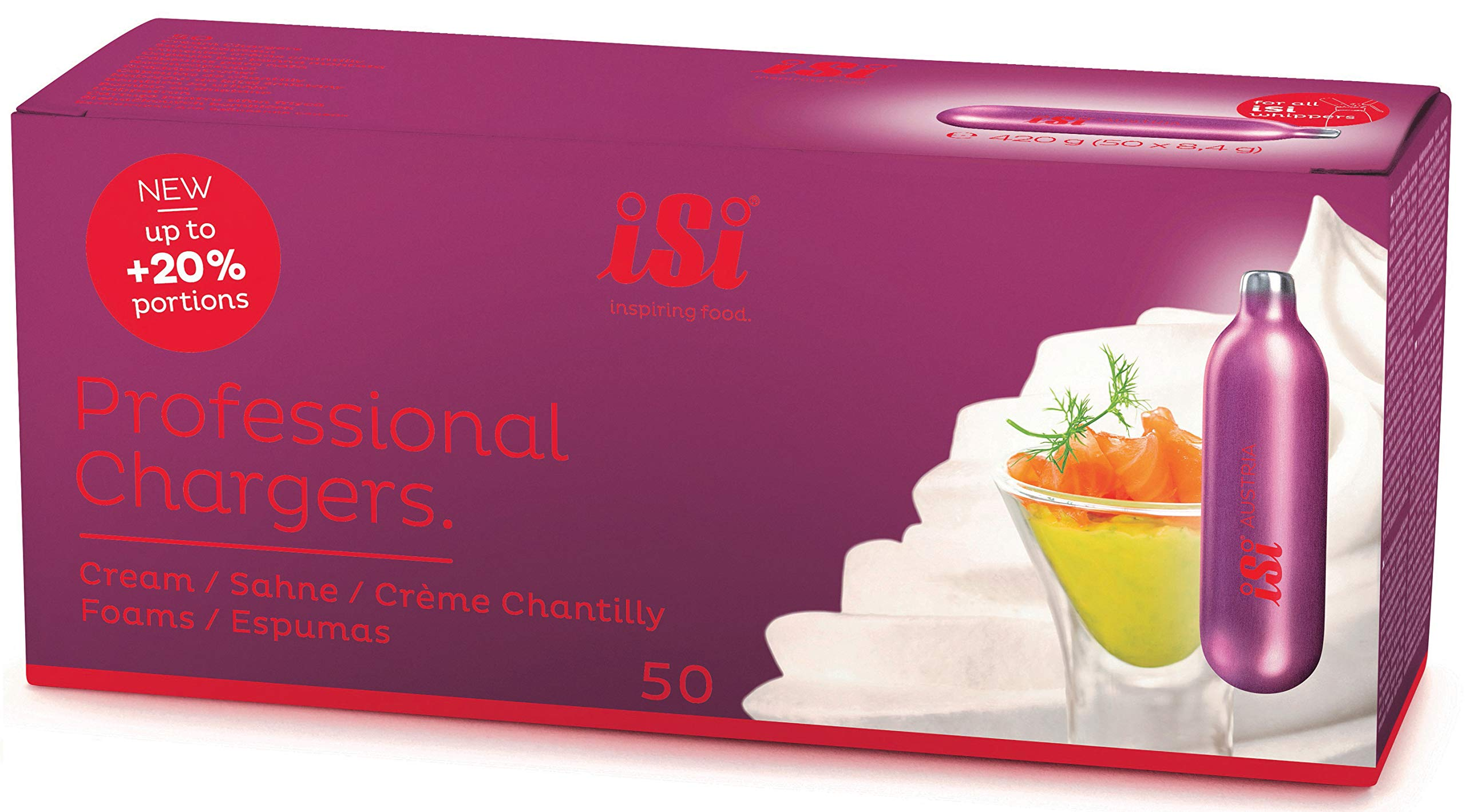 iSi N2O Professional Whipped Cream Chargers (200) by iSi North America