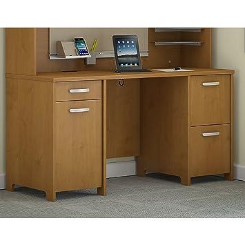 Lovely Bush Furniture Double Pedestal Desk, Natural Cherry PR76360K