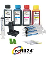 Kit de Recarga para Cartuchos de Tinta HP 302, 302 XL Negro y Color, Incluye Clip y Accesorios + 400 ML Tinta