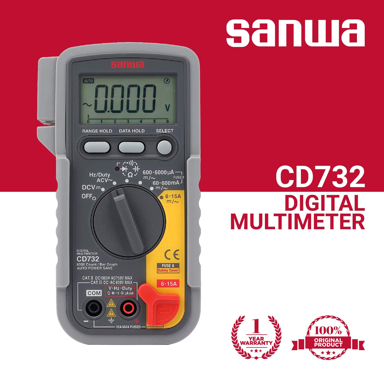 Sanwa SANWA☆Japan DIGITAL MULTI METERS CD732 MADE IN JAPAN
