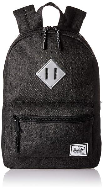 48dca62dcc5 Herschel Heritage Kids Children s Backpack Black Crosshatch Silver  Reflective Rubber One Size