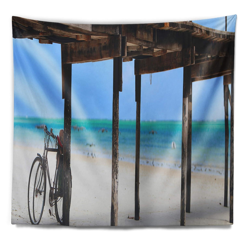 Designart TAP11535-39-32 White Sand Beach in Zanzibar Island Wall Tapestry Medium//39 x 32
