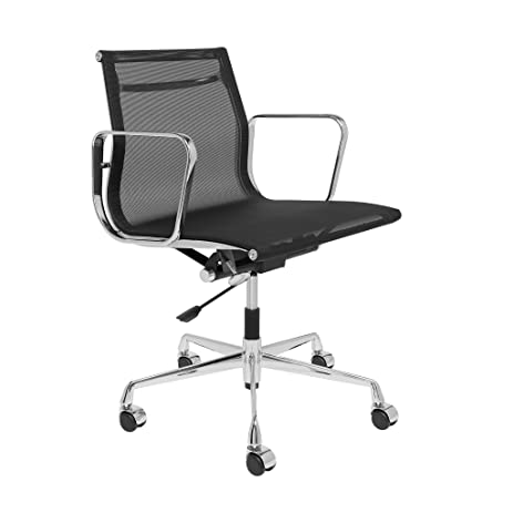 Beautiful SOHO Premier Eames Replica Management Chair (Mesh, Black)