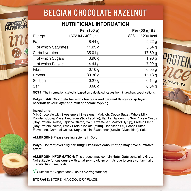 Applied Nutrition Protein Indulgence Bar, Hazelnut Caramel ...