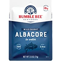 BUMBLE BEE Premium Albacore Tuna in Water, Tuna Fish, High Protein Food, Keto Food and Snacks, Gluten Free Food, High…