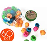 The Original PEELS THREAD SPOOL HUGGERS (60Pieces) by Smartneedle, Keep Thread Tails Under Control preventing unwinding.Works great on Thread Racks.Works on Sewing, Quilting and Embroidery Spools.