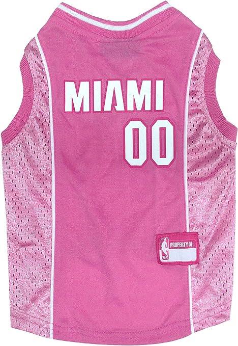 Amazon Com Nba Miami Heat Pink Dog Jersey X Small Pet Supplies