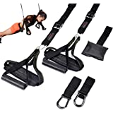 Bodytorc Suspension Training Kit, Bodyweight Training Straps for Full Body Workouts at Home, Includes Hanging Ab Straps…