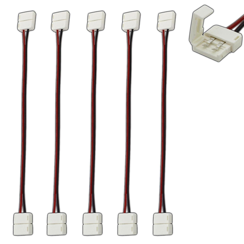5x stk. Bande LED connecteur rapide Câble 2broches connecteur pour ruban à LED Câble de connexion Connecteur 10cm PB-Versand®