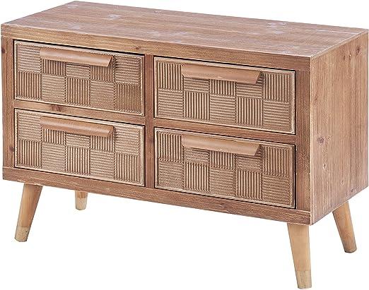 ts-ideen – Cómoda con cajones, mueble de TV, mesa de televisión, pasillo, estantería de madera, 55 x 80 cm: Amazon.es: Juguetes y juegos